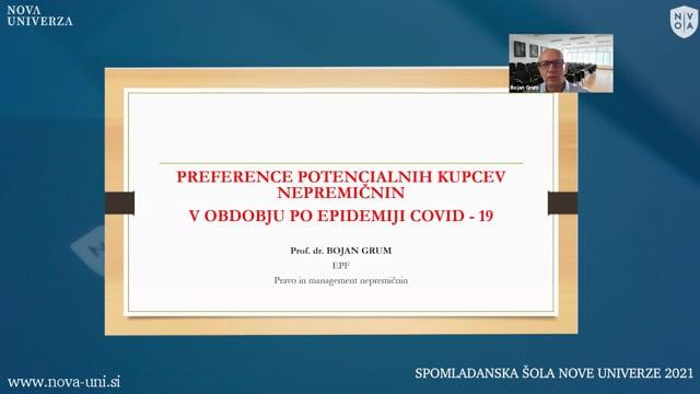 PREFERENCE POTENCIALNIH KUPCEV NEPREMIČNIN, V OBDOBJU PO EPIDEMIJI