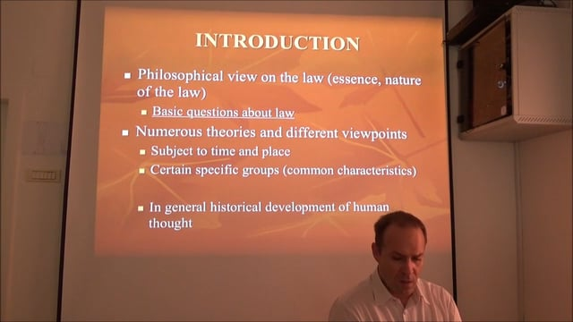 Philosophy and Theory of Law