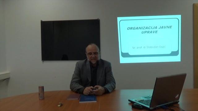 Organizacija javne uprave