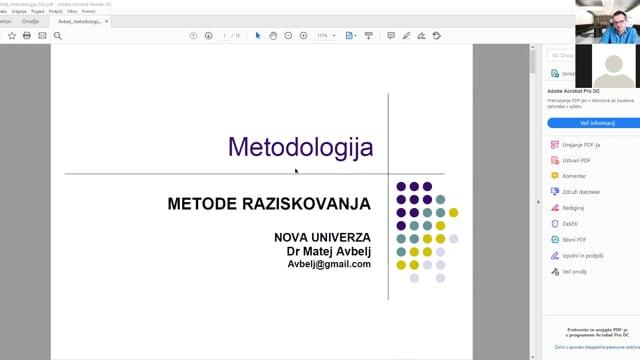 Metodologija raziskovanja